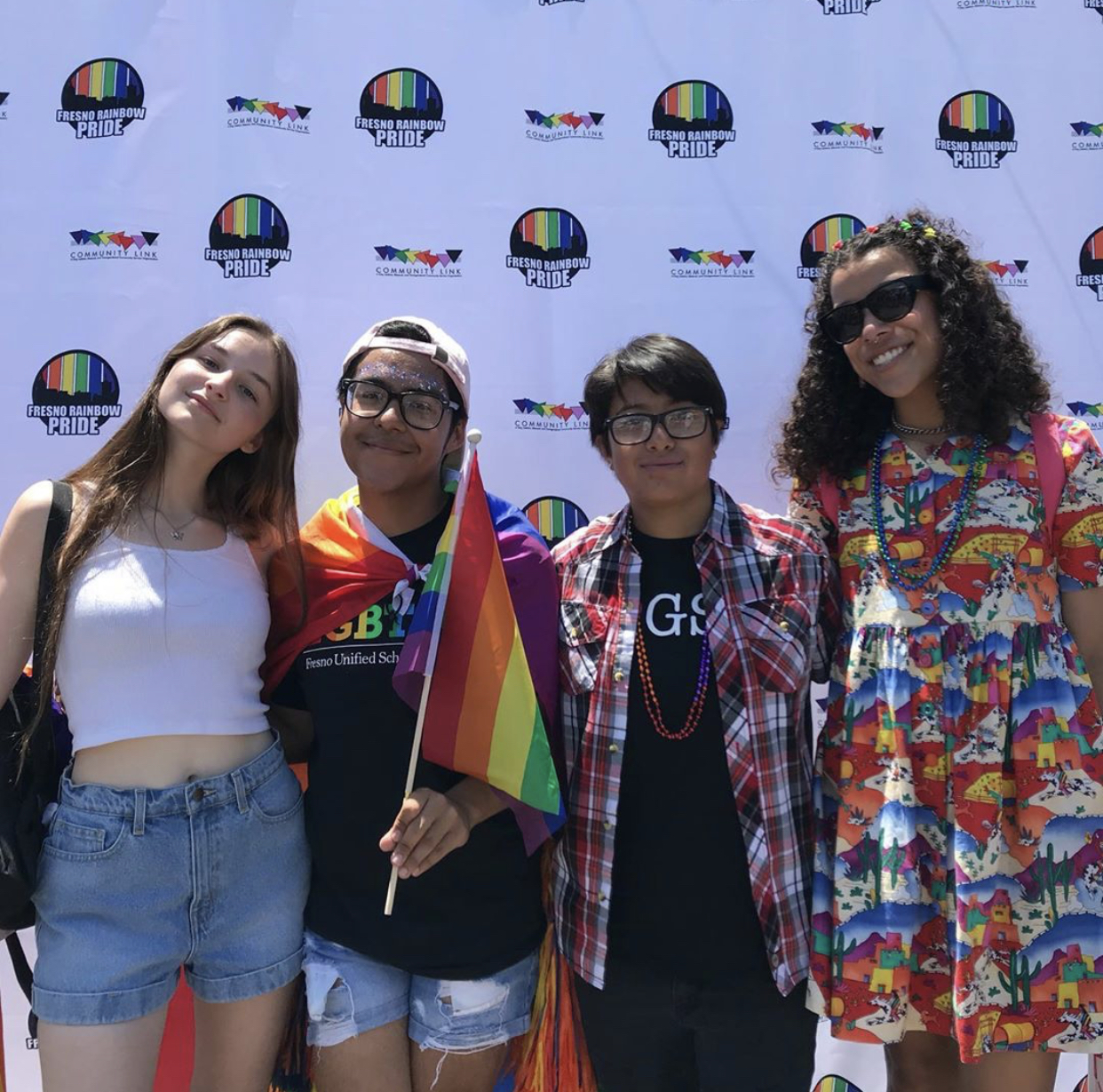Central Valley Youth Council members at Fresno Pride in 2019
