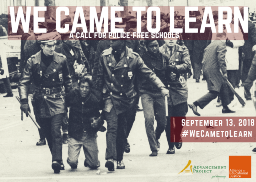 Cover Photo for Advancement Project's We Came to Learn Report which was released on September 13, 2018