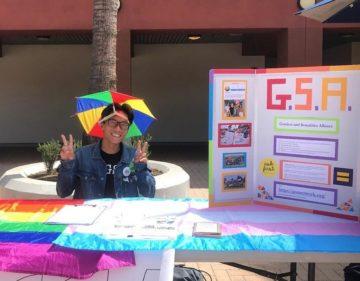 Thomas Chung recruiting for his school GSA