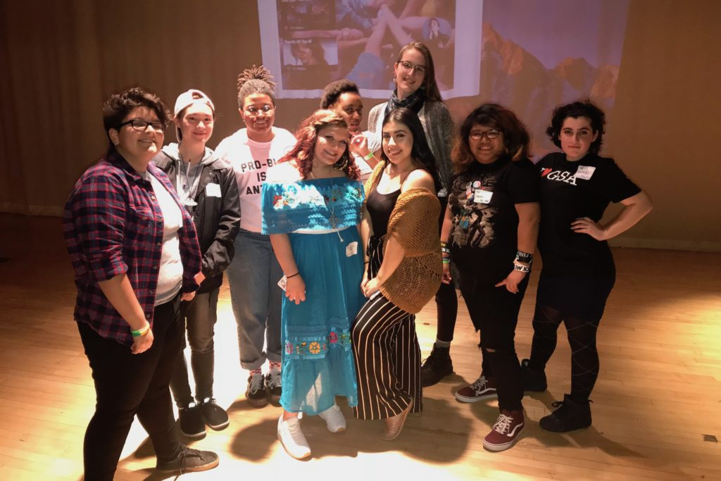 Students pose at the Youth Empowerment Summit