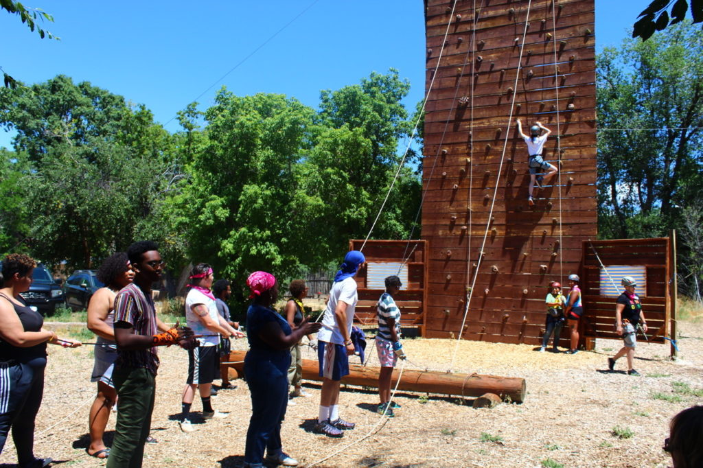 LGBTQ Youth Participate in a Ropes Course in New Mexico