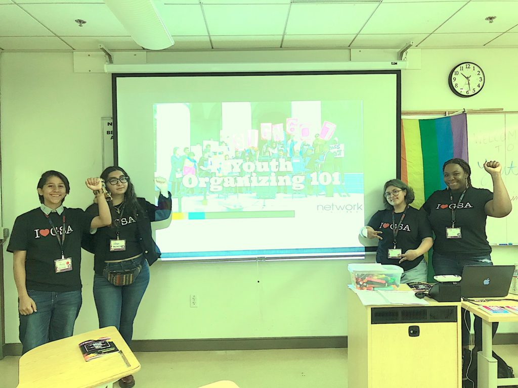 LGBTQ youth lead organizing workshop