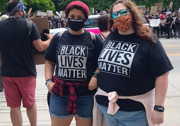 Youth organizer Harley attends a Black Lives Matter protest in Columbus, Ohio